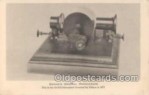 Phonograph Postcard Postcards  Edisons Phonograph