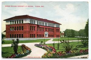 Science Building University of Arizona Tucson AZ 1910c postcard