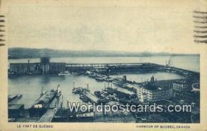 Harbour of Quebec Canada, du Canada Le Port De Quebec Harbour of Quebec Le Po...