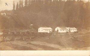 RPPC Pekin, IL? Mining Ore Carts 1908 Vintage Real Photo Postcard