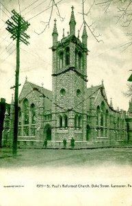 PA - Lancaster. St. Paul's Reformed Church, Duke St. (glitter)