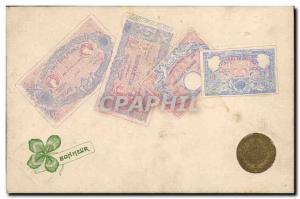 Old Postcard Ticket Piece Gold 10 Francs