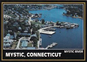 Connecticut Mystic Aerial View Mystic River
