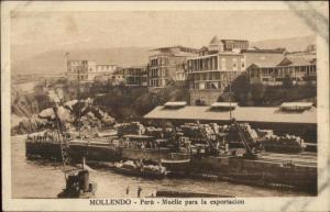 Mollendo Peru c1910 Postcard #4 Muelle para la Expotacion