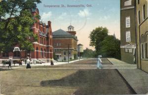 canada, BOWMANVILLE, Ontario, Temperance Street (1913)