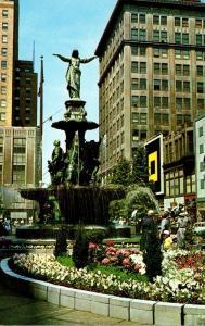 Ohio Cincinnati Fountain Square Tyler-Davidson Fountain