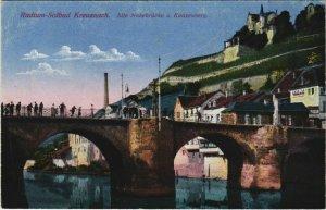 CPA AK Bad Kreuznach Alte Nahebrucke u. Kauzenburg GERMANY (1128349)