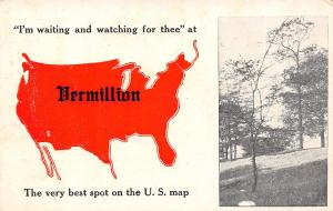 Waiting & Watching at Vermillion Kansas~Best Spot on US Map~1913 Pennant PC