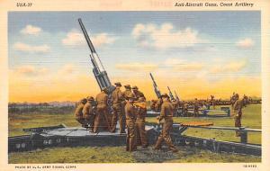 Military Post Card Old Vintage Antique Postcard Anti Aircraft Guns, Coast Art...