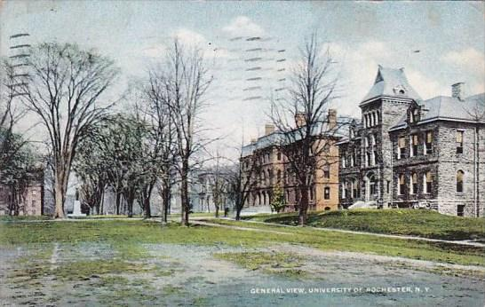 New York Rochester General View University Of Rochester 1911