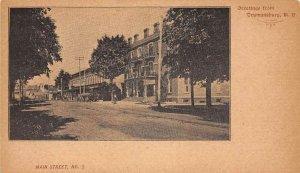 Trumansburg New York main street Greeting Card antique pc DD7443