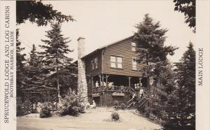 Maine Boothbay Harbor Main Lodge Sprucewold Lodge & Log Cabins Real Photo