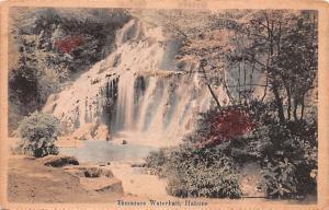 Japan Old Vintage Antique Post Card Tamadare Waterhall Hakone Tape on back