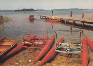 Paddle Boats, Pier, MAZURY LAKE DISTRICT, Poland, 50-70's