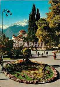 Postcard Modern Swoyambhu the biggest stupa in the world Nepal