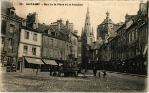 CPA GUINGAMP - Rue de la Place et la Fontaine (103610)