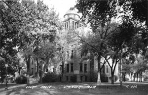 Spencer Iowa~Court House~Domed Clock Tower~Lots of Trees on Lawn~1962 RPPC