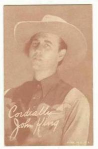 Movie star, Cowboy John King , 1920s