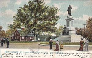 Rhode Island Providence Roger Williams House and Statue Roger Williams Park 1...