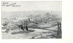 21627 Aerial view of Pittsburgh PA from Duquesne Heights PMC