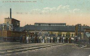 CLINTON , Iowa, 1900-10s ; C.&N.W. Railroad Train Shops