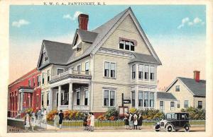 Pawtucket Rhode Island YWCA Building Street View Antique Postcard K97337