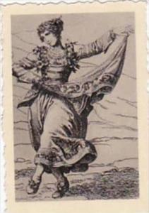 GARBATI CIGARETTE CARD FAMOUS DANCERS NO 46 ITALIAN DANCER