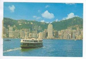 Tour boat in harbor, Hong Kong, China, Pu-1982