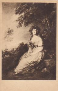 Mrs Richard Brinsley Sheridan by Gainsborough National Gallery Of Art Washing...