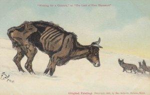 Artist C.M.R.: , Montana, 1900-10s; Waiting for Chinook