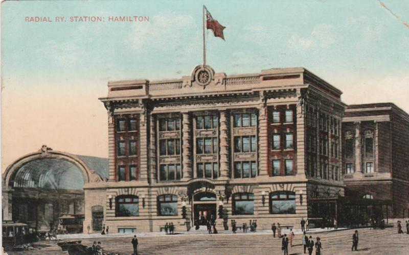 Radial Railway Station - Hamilton, Ontario, Canada - pm 1908 - DB - Scott #97