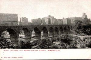 Minnesota Minneapolis Great Northern Railroad Bridge and Mill District