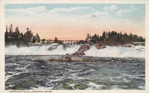 Maine Lewiston Lewiston Falls Curteich