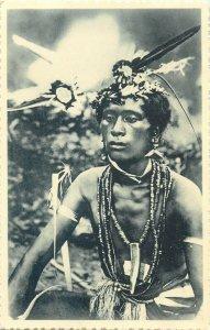 Oceania the Carolines Caroline Island native wizard shaman postcard