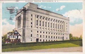 Rhode Island Providence Masonic Temple 1935