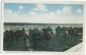 W/B View from Headquarters Hill Camp Upton L.I. NY New York