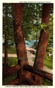 North Craolina Montreat Looking Through Trees Towards Lake From Veranda Of Mo...