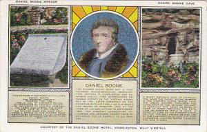 Daniel Boone With Marker and Cave Multi View Charleston West Virginia