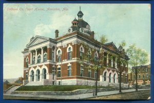 Calhoun County Court House Anniston Alabama al old postcard 1909