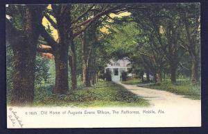 Augusta Evans Wilson home Mobile Alabama unused c1905