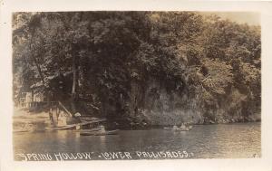 F24/ Mt Vernon Iowa Real Photo RPPC Postcard c1910 Spring Hollow Lake