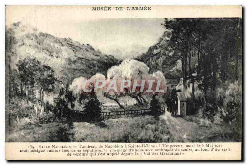 VINTAGE POSTCARD Napoleon 1st Paris Musee of the army Salle