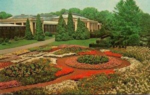Pennsylvania Kennett Square Longwood Gardens Annual Display Near Conservatory...