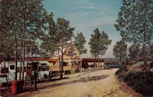 Hot Springs Arkansas street scene national park Koa Campground vintage pc CC10