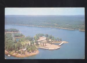 MOUNT MT. IDA ARKANSAS LAKE OUACHITA SHANGRI-LA RESORT ADVERTISING POSTCARD