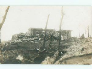 rppc 1920's BUILDING DESTROYED BY WAR OR EARTHQUAKE AC8886
