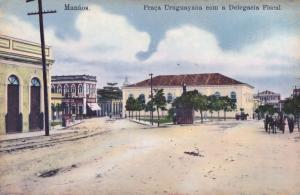 Manaos Manaus Praca Uruguayana Delegacia Fiscal Brazil Old Postcard