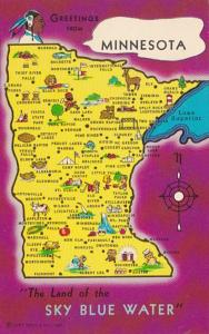 Greetings From Minnesota With Map