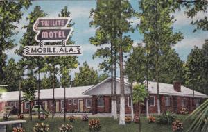 MOBILE, Alabama, PU-1937; Twilite Motel, Highway 90
