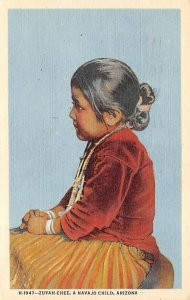Zuyah-Chee, the Navajo child Arizona, USA Indian 1951
